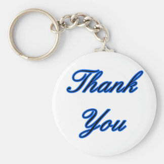 Blue Black Thank You Design The MUSEUM Zazzle Gift Key Chains