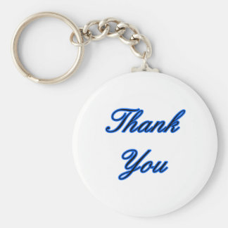 Blue Black Thank You Design The MUSEUM Zazzle Gift Keychain