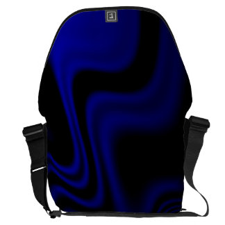 Blue Black Wavy Abstract Commuter Bag
