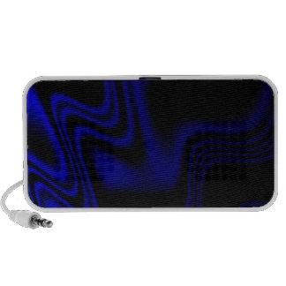 Blue Black Wavy Abstract Notebook Speaker