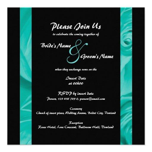 Blue black wedding engagement PERSONALIZE Personalized Invites