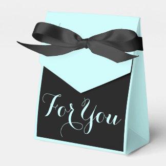Blue black wedding formal celebration party favour box
