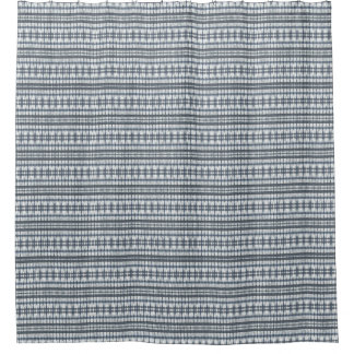 Blue Black White Bundled Stripes Shower Curtain