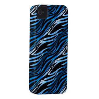 Blue & Black Zebra iPhone 4 Case