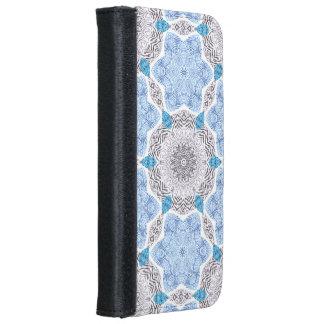 Blue Black Zebra Pattern iPhone 6 Wallet Case
