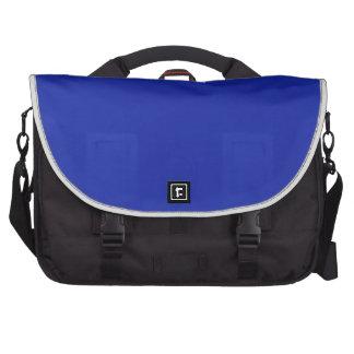Blue Blank Plain DIY add text quote photo image Laptop Shoulder Bag