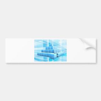Blue Blocks Business Background Bumper Sticker