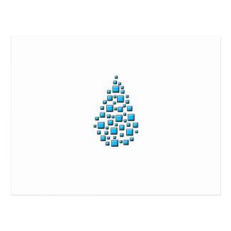 Blue Blocky Drop Postcard