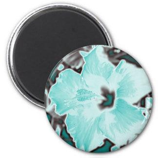 Blue Bloom Flower Refrigerator Magnet