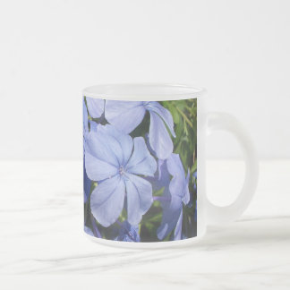 Blue Blossom Bunch Frosted Glass Mug