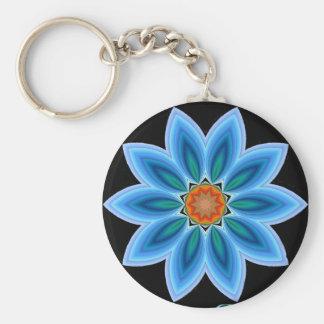 Blue Blossom Key Ring