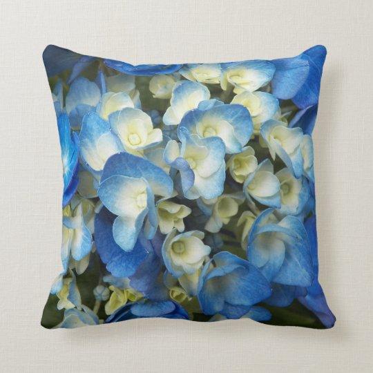 Blue Blossoms Floral Cushion