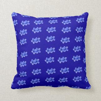 Blue Blossoms On Blue, Cushion