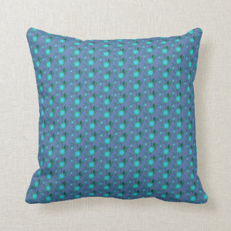 Blue blossoms party cushion