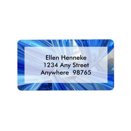 Blue Blown Glass Address Label