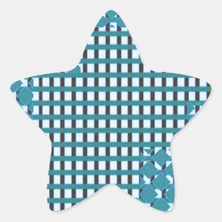Blue blu Sparkle sq rect pattern LOWPRICE STORE Star Sticker