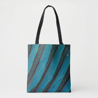 Blue Blue-Bellied Roller Feather Design Tote Bag