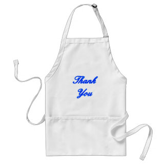 Blue Blue Thank You Design The MUSEUM Zazzle Gifts Adult Apron