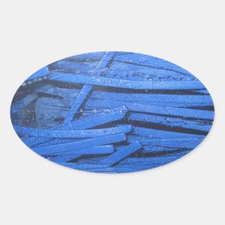 Blue Blur Oval Sticker