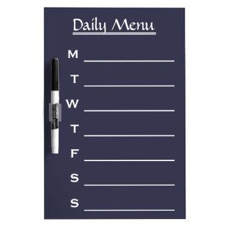 Blue board Chalkboard Daily Menu Weekly Menu Dry Erase Board