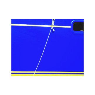 Blue boat. canvas print