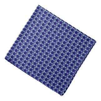 blue boat nautical anchor pattern bandana