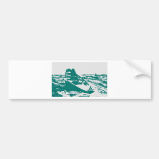 Blue Boat Winslow Homer Foghorn Bumper Stickers