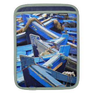 Blue Boats iPad Sleeves