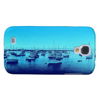 Blue Boats on Blue Bay Galaxy S4 Case