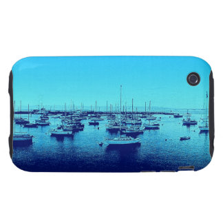Blue Boats on Blue Bay iPhone 3 Tough Cover