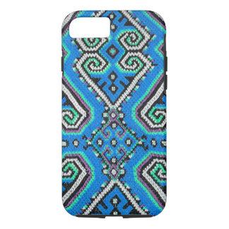 Blue Bohemian Geometric Design iPhone 7 Case