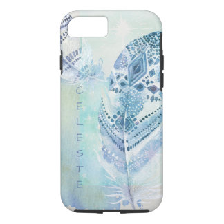 Blue Boho Feather Dream iPhone 8/7 Case