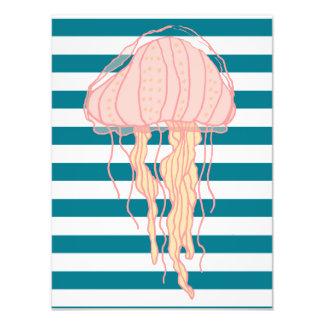 Blue Bold Stripes Jellyfish 12x16 Photo Print