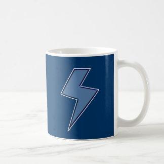Blue Bolt Basic White Mug