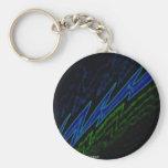 blue bolt key chain