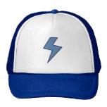 Blue Bolt Mesh Hats