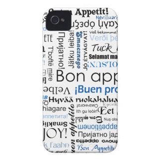 Blue Bon appetit in many languages iPhone 4 Cases