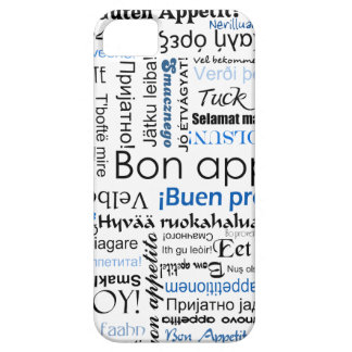 Blue Bon appetit in many languages iPhone 5 Cases