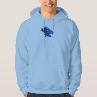 Blue bonehead dinosaur skull hoodie