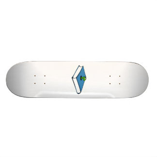 Blue Book Worm Skateboard Deck