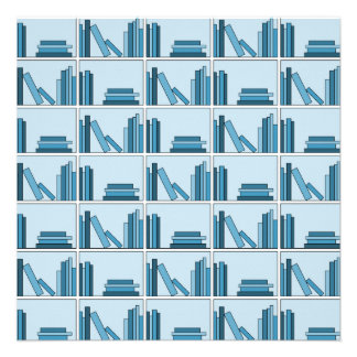 Blue Books on Shelf Announcements
