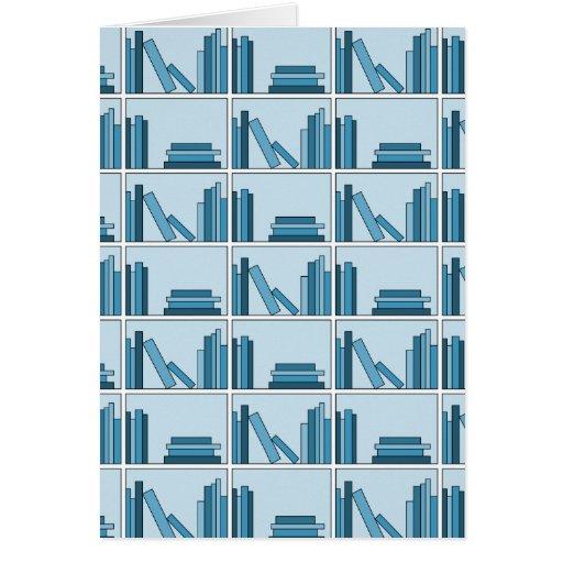 Blue Books on Shelf. Card