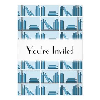 Blue Books on Shelf Custom Announcement