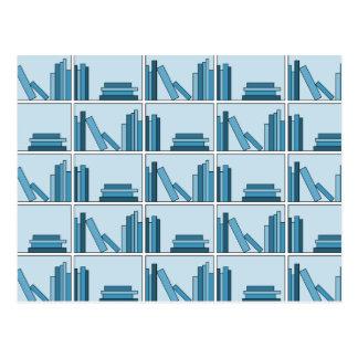 Blue Books on Shelf Postcards