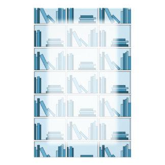 Blue Books on Shelf Personalized Stationery