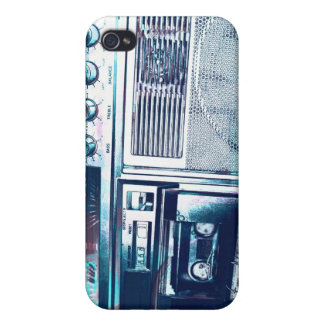 blue boom boxing iPhone 4/4S covers