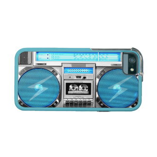 Blue boombox iPhone 5 case
