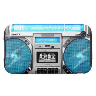 Blue boombox iPhone 3 tough covers