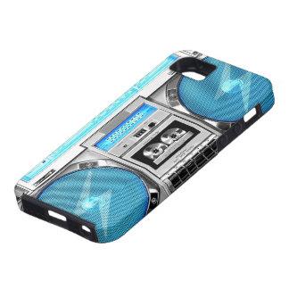 Blue boombox tough iPhone 5 case