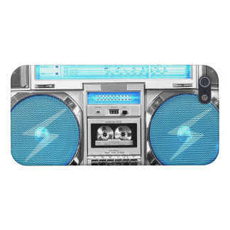 Blue boombox case for the iPhone 5